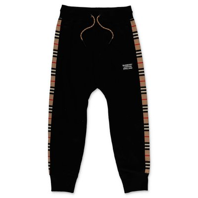 Burberry black HAMILTON cotton sweatpants