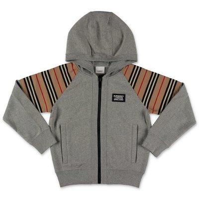 Burberry melange grey HAMILTON cotton hoodie