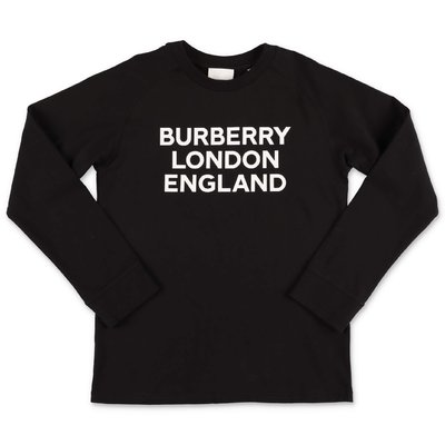 Burberry black logo detail cotton jersey t-shirt