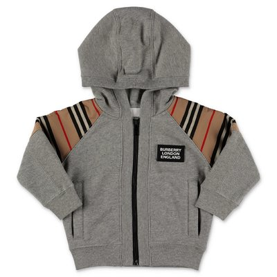 Burberry melange grey HAMILTON cotton hoodie