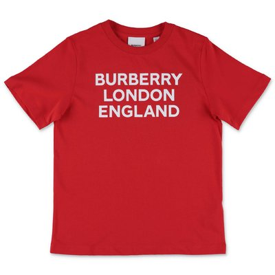 Burberry t-shirt rossa in jersey di cotone