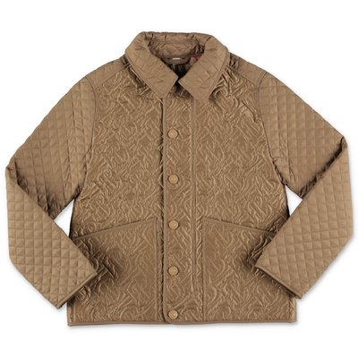 Burberry giacca beige trapuntata in nylon