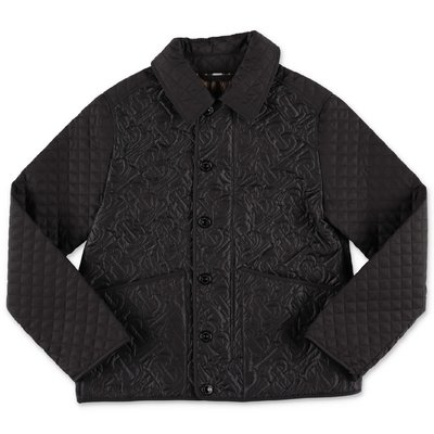 Burberry giacca nera trapuntata in nylon