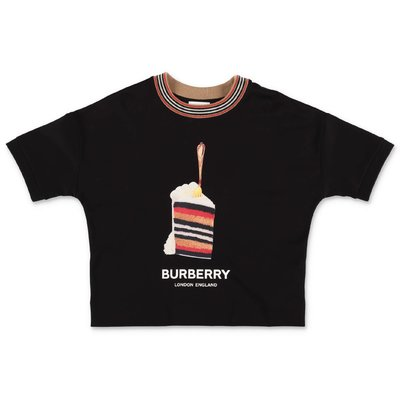 Burberry PIA TEE CAKE black cotton jersey t-shirt