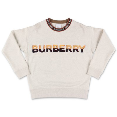Burberry SHORTBREAD light grey cotton sweatshirt