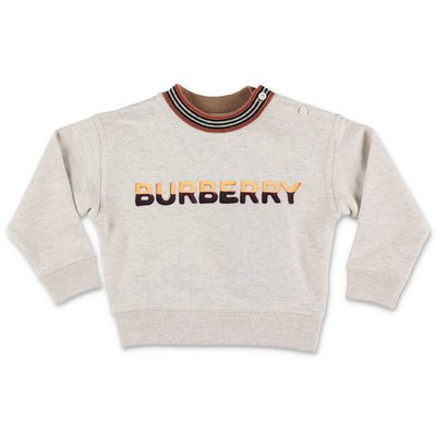 Burberry light grey cotton sweatshirt