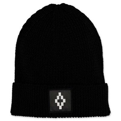 Marcelo Burlon berretto nero in maglia misto lana