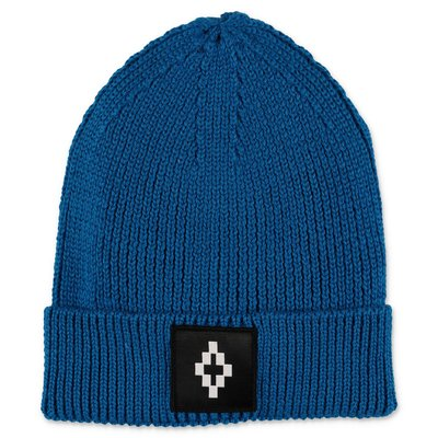 Marcelo Burlon berretto blu royal in maglia misto lana