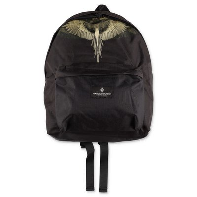 Marcelo Burlon black nylon backpack