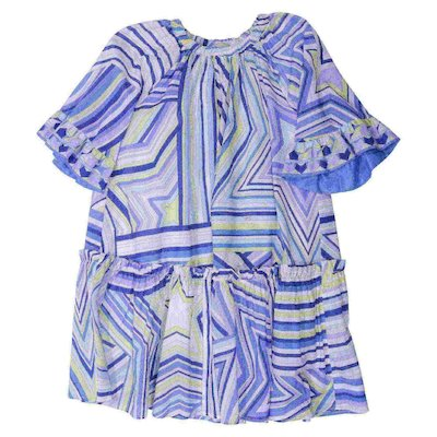 Printed cotton muslin dress