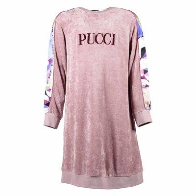 Pink viscose chenille dress