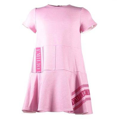 Pink viscose blend dress