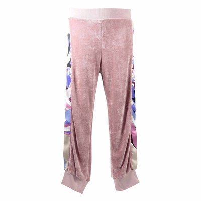 Pink viscose chenille pants