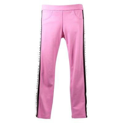Pantaloni fucsia in misto viscosa con logo