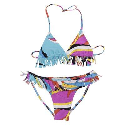 Costume bikini stampa astratta in lycra