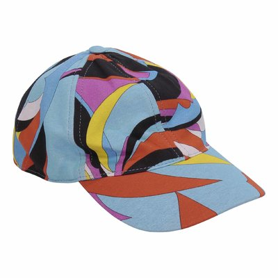 Abstract print cotton baseball cap