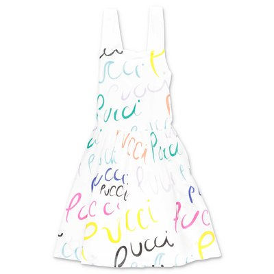 EMILIO PUCCI white cotton muslin dress