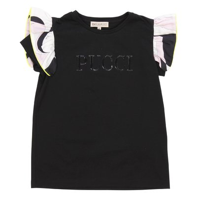Emilio Pucci logo black cotton jersey t-shirt