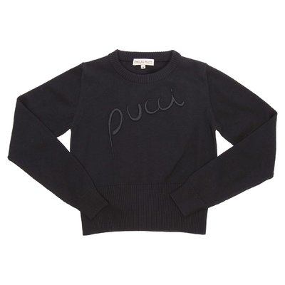 Emilio Pucci black cotton knit jumper
