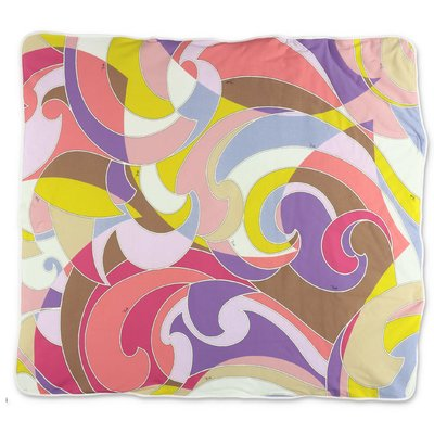 EMILIO PUCCI abstract print cotton jersey blanket