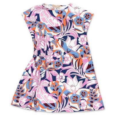 EMILIO PUCCI abstract print cotton jersey dress