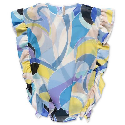 EMILIO PUCCI abstract print cotton muslin dress