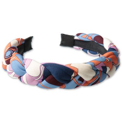 EMILIO PUCCI abstract print cotton rounded headband