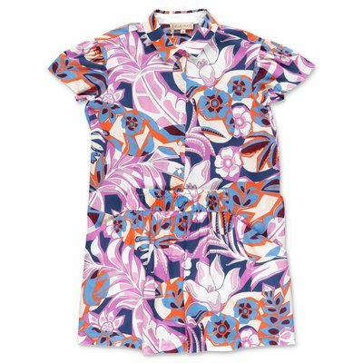 EMILIO PUCCI abstract print cotton muslin chemisier dress