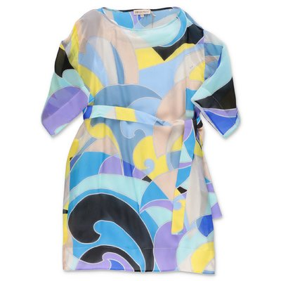 EMILIO PUCCI abstract print silk dress
