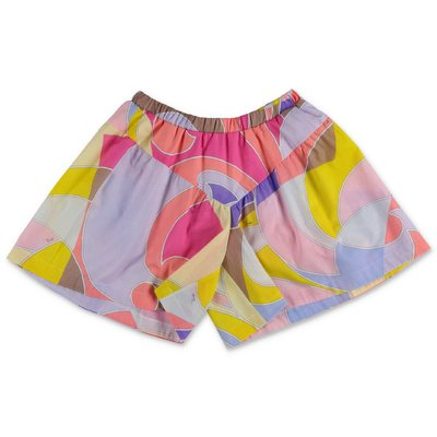 EMILIO PUCCI abstract print cotton muslin shorts