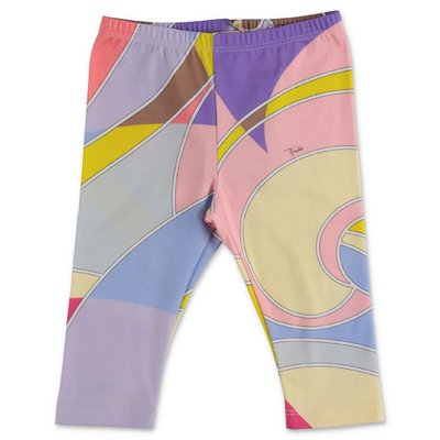 EMILIO PUCCI abstract print stretch cotton leggings