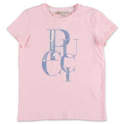 EMILIO PUCCI pink cotton jersey t-shirt