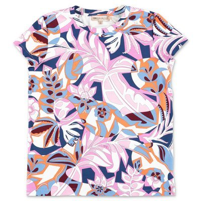 EMILIO PUCCI abstract print cotton jersey t-shirt