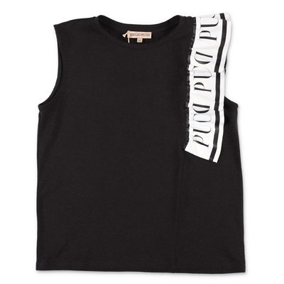 EMILIO PUCCI black cotton jersey top