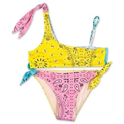 MC2 Saint Barth costume bikini multicolor con stampa paisley in lycra