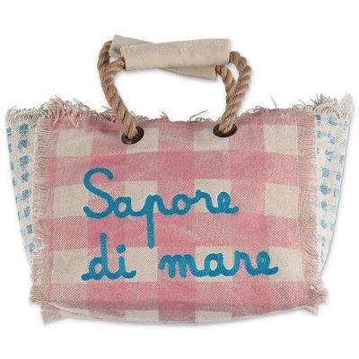 MC2 St Barth pink cotton canvas bag
