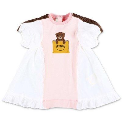 FENDI abito rosa in cotone