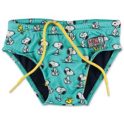 MC2 Saint Barth sky blue lycra Peanuts theme swimwear briefs