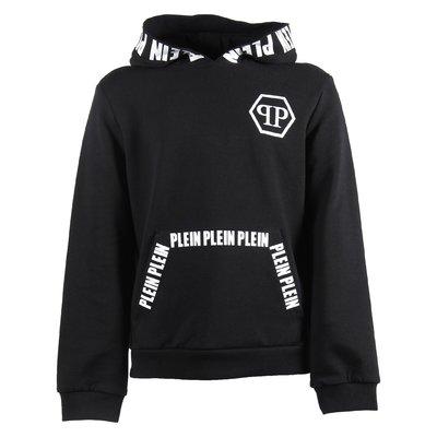 Black crystal skull cotton sweatshirt hoodie