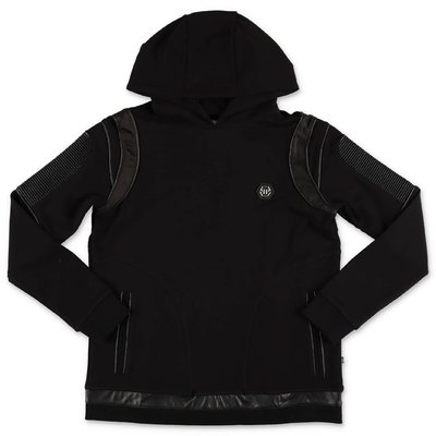 Philipp Plein black cotton sweatshirt hoodie