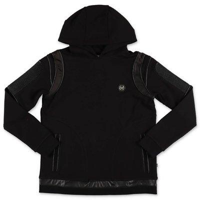 Philipp Plein black cotton sweatshirt hoodie