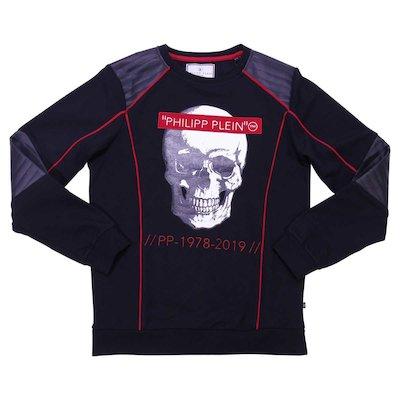 Logo black cotton sweatshirt