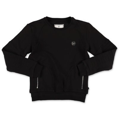 Philipp Plein black cotton sweatshirt