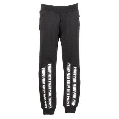 Pantaloni in felpa di cotone con dettaglio logo