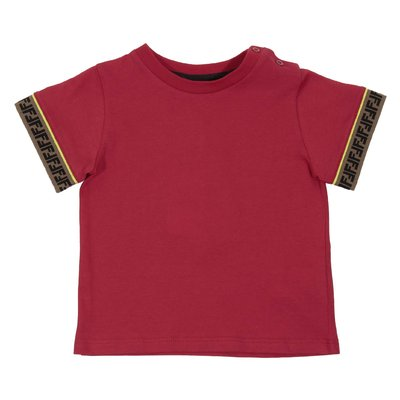 Red FF logo detail cotton jersey t-shirt