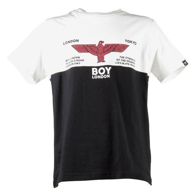 Color block logo cotton jersey rugby t-shirt