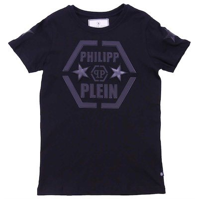 Black cotton jersey t-shirt