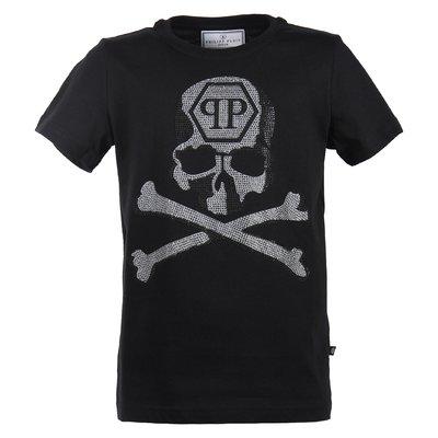 Black crystal skull cotton jersey t-shirt
