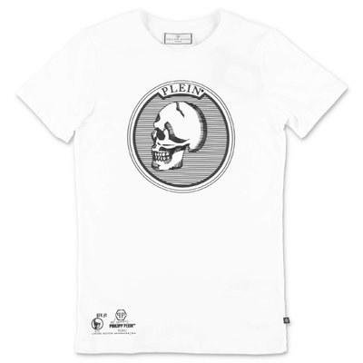 PHILIPP PLEIN white cotton jersey t-shirt