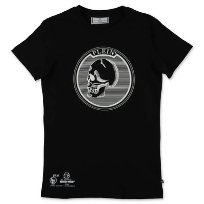 PHILIPP PLEIN black cotton jersey t-shirt